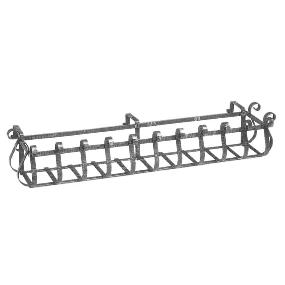 Decorative wrought iron railing planter box product image