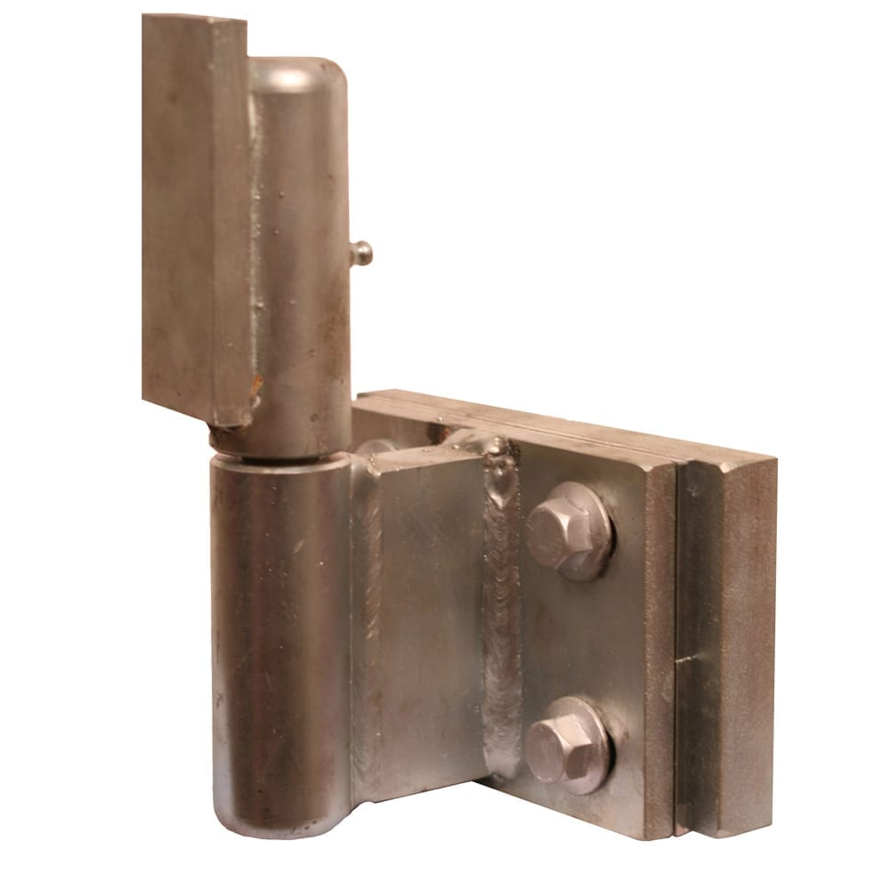 Heavy duty barrel hinge with adjustment in all three dimensions