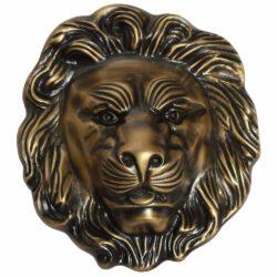 Decorative brass lion head face plate