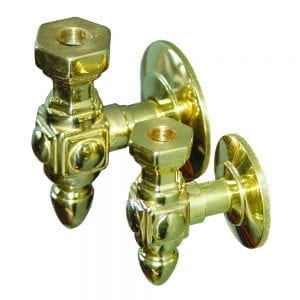 Brass side-mount bracket for attaching pickets and spindles to the side of a staircase