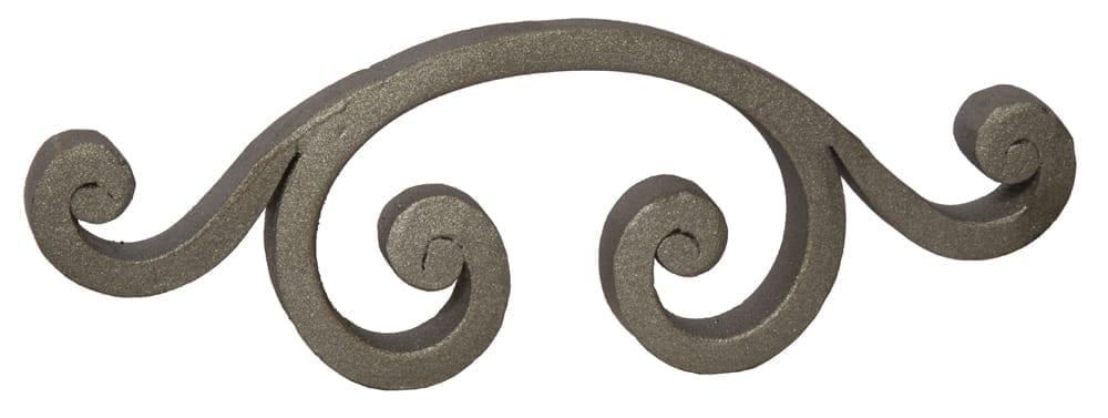 Ornamental steel forged C-scroll