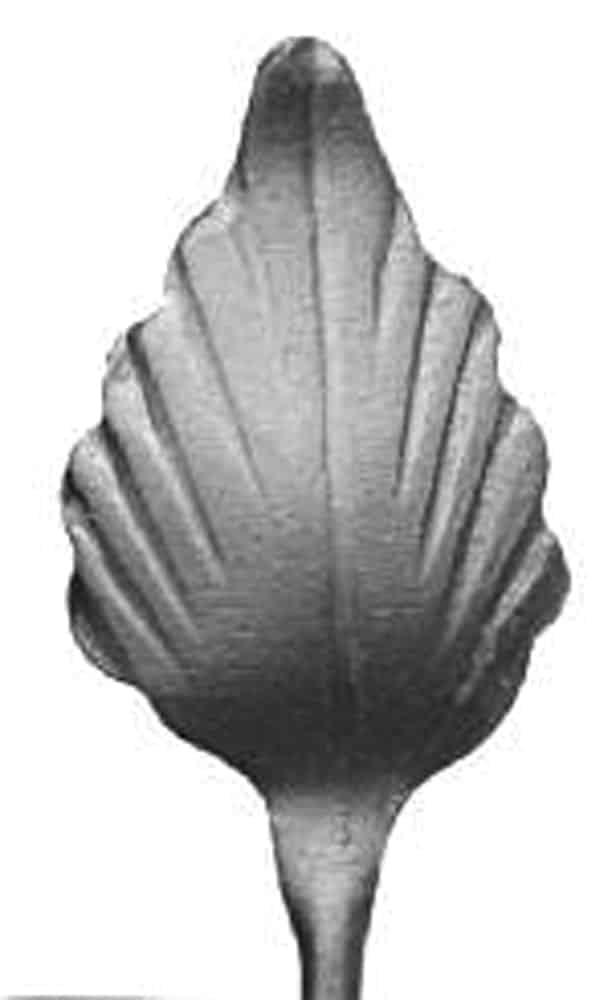 Stamped steel leaf with round stem - DJA 169L