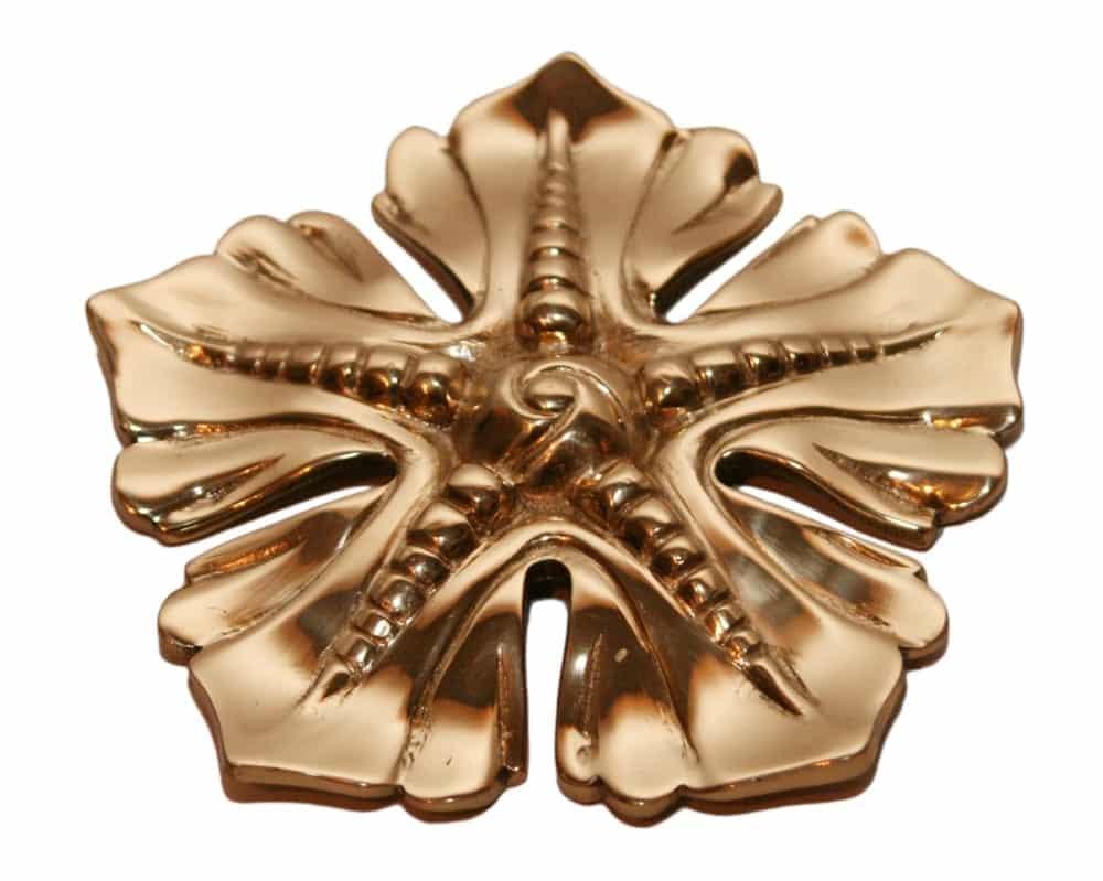 Beautiful brass rosette, high polish