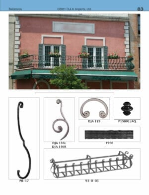 Commercial outdoor ornamental steel balcony