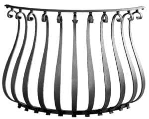 Balcony example using FB-24 belly pickets