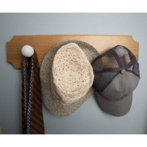 Golf Finial Plaque as Multi-Purpose Hat and Tie Hanger