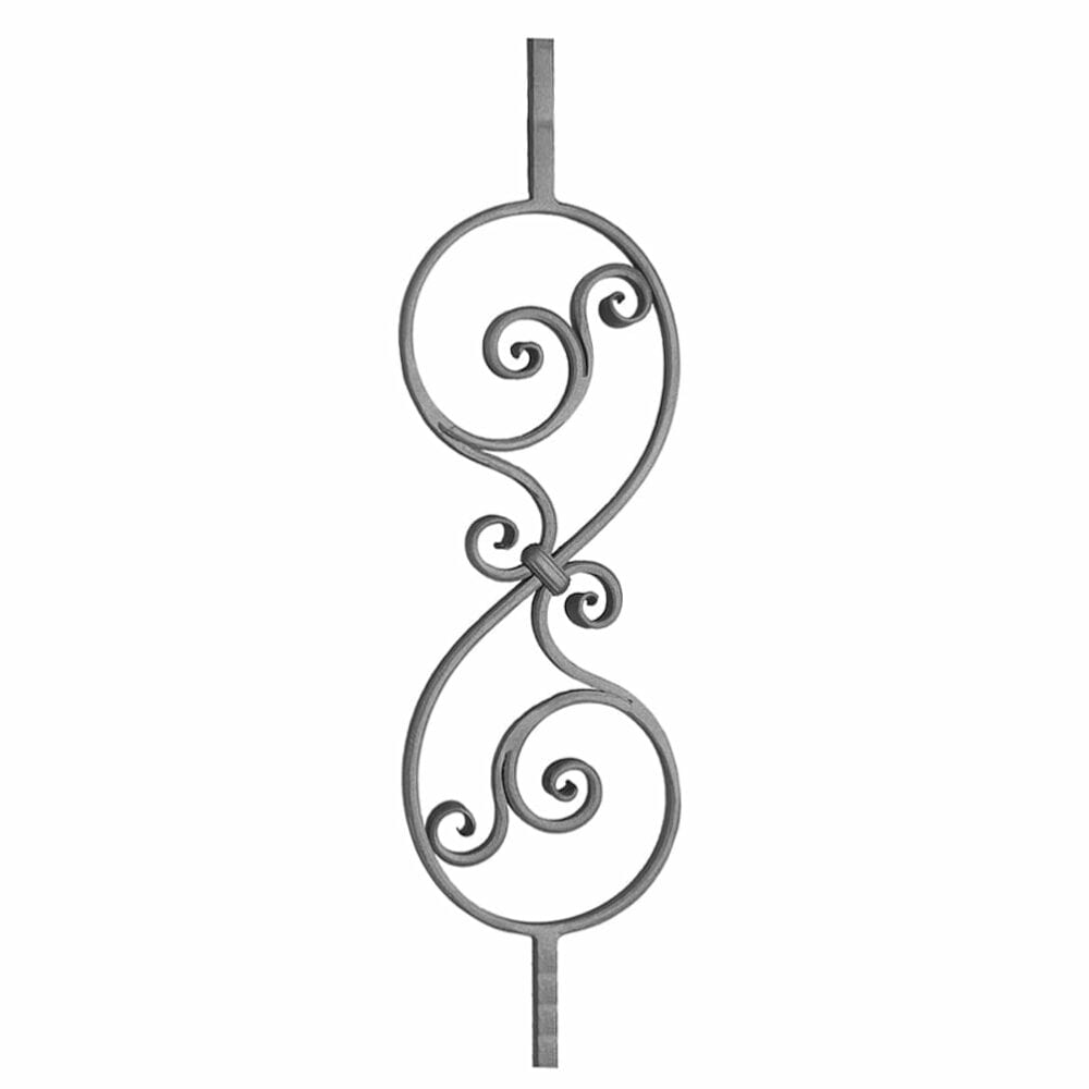 Hand forged S shape baluster panel - CPDJA2