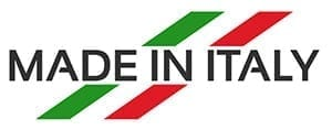 Decal showing product is made in Italy