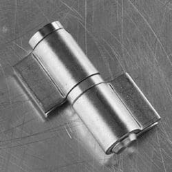 Heavy duty stainless steel pin hinge with two closed wings and removable pin